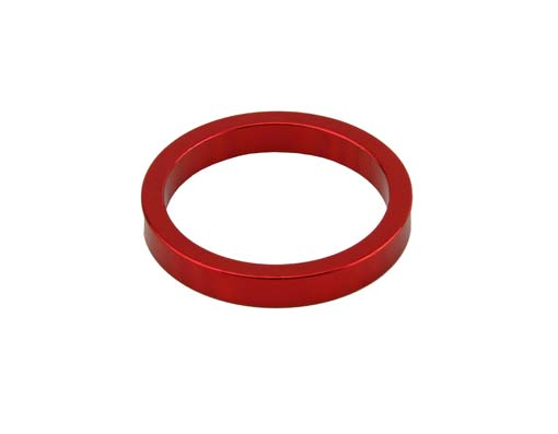 Headset Spacer Bicycle 1-1/8 5mm Red