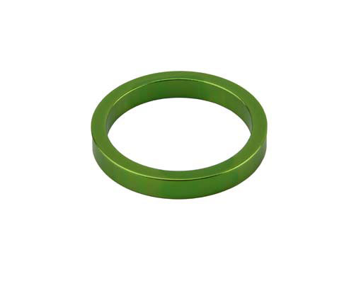 Headset Spacer Bicycle 1-1/8 5mm Green.
