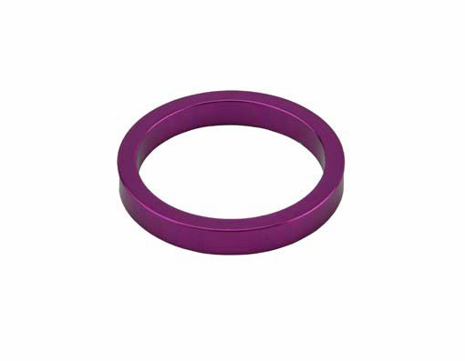 Headset Spacer Bicycle 1-1/8 5mm Purple.