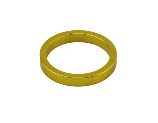 Headset Spacer Bicycle 1-1/8 5mm Yellow