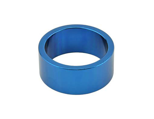 Headset Spacer Bicycle 1-1/8 15mm Blue.