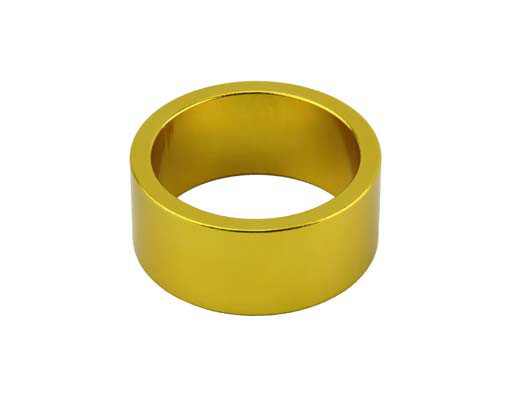 Headset Spacer Bicycle 1-1/8 15mm Yellow.