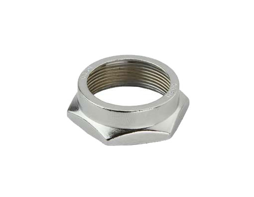 Bicycle Headset Lock Nut 22.2 Chrome.