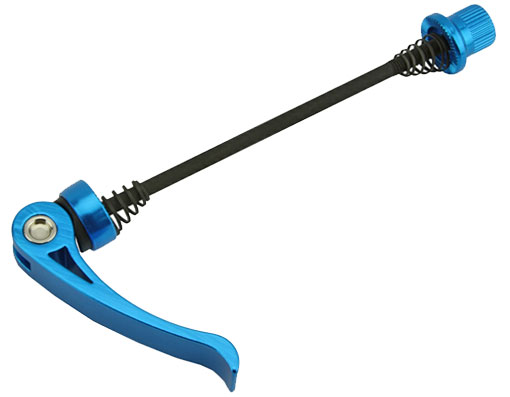 Skewer Bicycle Axle Front Blue.
