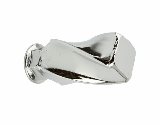Twisted Square Bicycle Nut 3/8 x 24t Chrome.