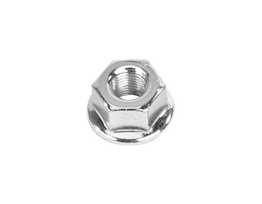 Hub Axle Nut Rear 10x1mm Chrome.