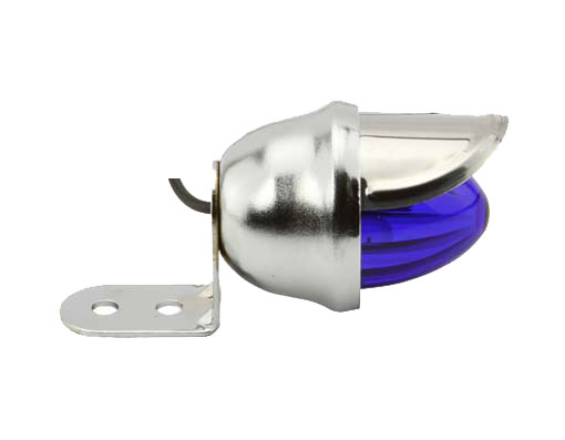 Mini Bee Bicycle Light Chrome/Blue.