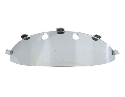 Bullet Bicycle Light Visor Chrome.
