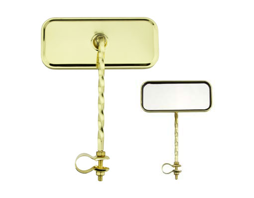 Rectangle Twisted Mirror All Gold.