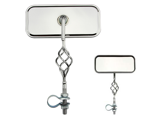Cage Rectangle Mirror Bicycle All Chrome.