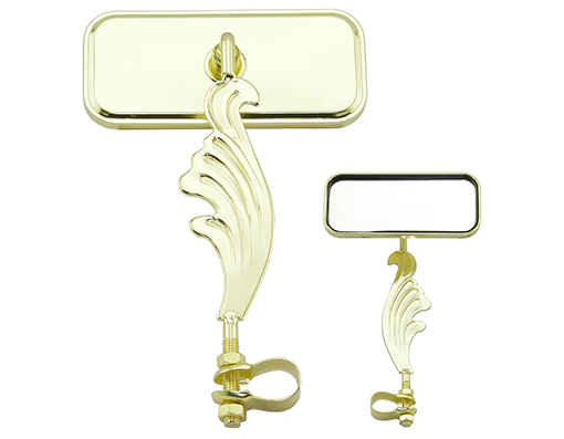bike Rectangle Wing Mirror Right All Gold