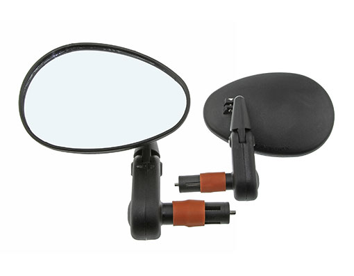 Bike 3D Mirror Bar End 2002SB Black. 193687