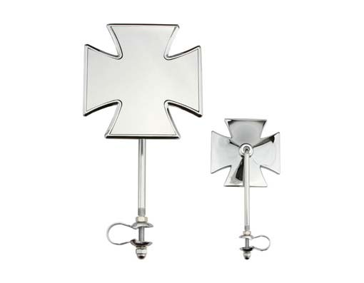 Iron Cross Mirror Bicycle Chrome.