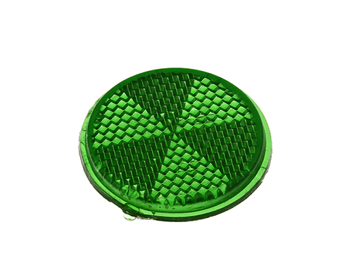 Bike Mirror Reflector 42mm Green. 193981