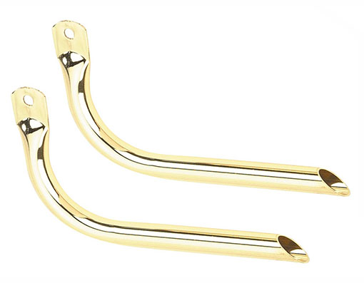 Bike Straight Muffler Gold.