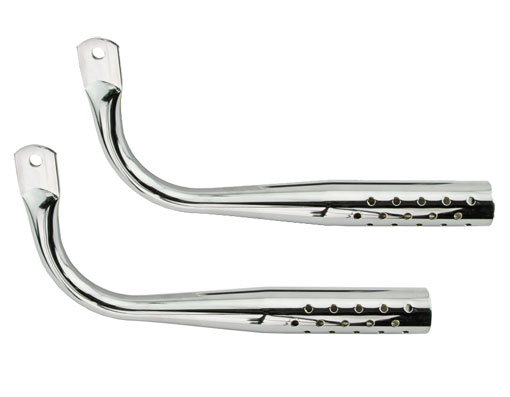 Bicycle Muffler W/Holes Chrome.