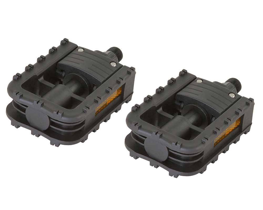 "New Bicycle PVC Pedals 909 1//2/"" or 9//16/"" Black"
