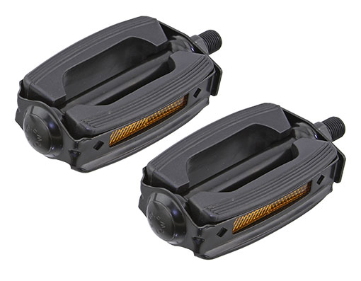 Bike Krate Rubber Pedals 1/2 Black/Black. 202617