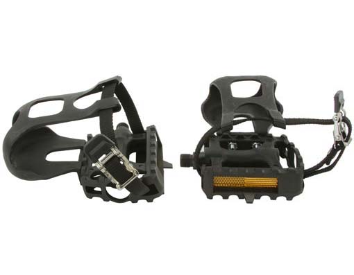 861 Bicycle Pedals W/Toe Clips 9/16