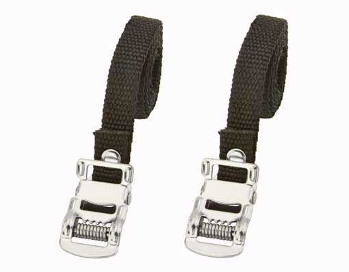 Nylon Bicycle Toe Straps Black.