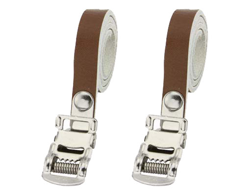 Bicycle Leather Toe Straps Brown.