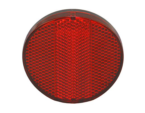 Red Rear Reflector Bicycle.