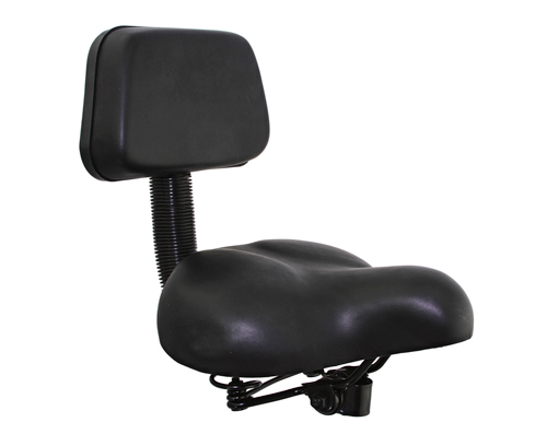Beach Cruisers Saddle W/Back Rest 350 Black.