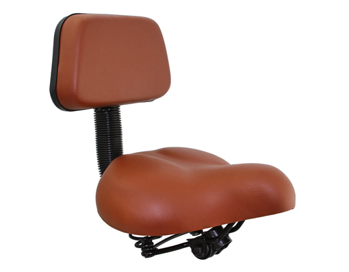Beach Cruisers Saddle W/Back Rest 350 Brown.