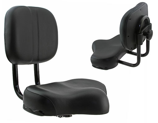 Black Bicycle Seat with Backrest