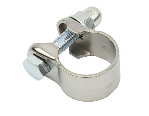Steel Seat Post Clamp Outer Diameter 28.6mm Chrome.
