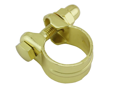 Steel Seat Post Clamp Outer Diameter 28.6mm Gold.