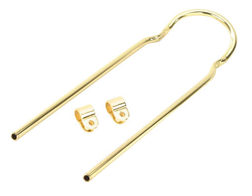 """20/"""" Lowrider Bike Bicycle Sissybar 90 Degree Bent With Clamp Gold"""