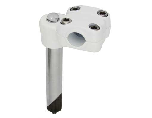 450 Alloy Bicycle Stem 21.1mm White.