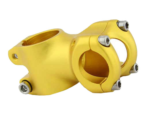 Alloy Bicycle Stem 7081 50mm Gold.