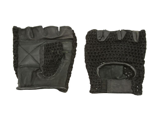 Gloves Leather M Black Bicycle.