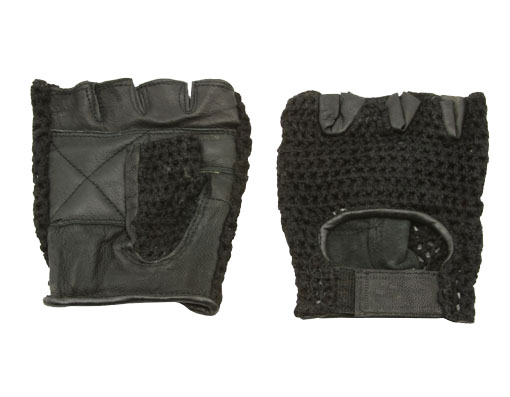 Gloves Leather L Black Bicycle.
