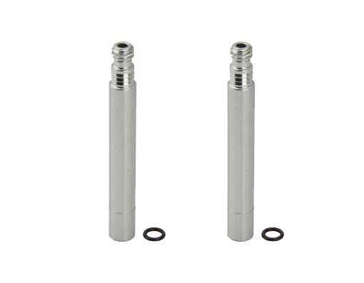 Alloy Presta Valve Bicycle Extender 50mm Silver.
