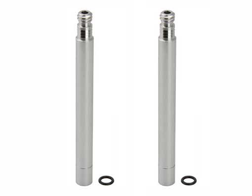 Alloy Presta Valve Bicycle Extender 70mm Silver.