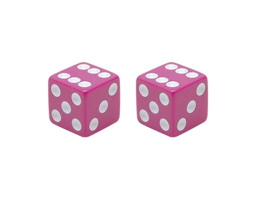 Dice Valve Bicycle Caps Pink.