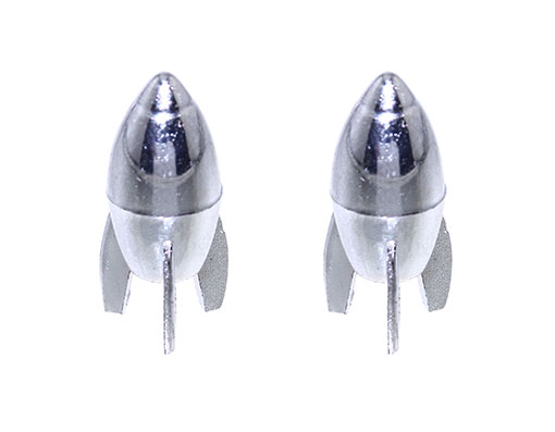 Bike Rocket Valve Caps Chrome, Presta/Valve. 244624