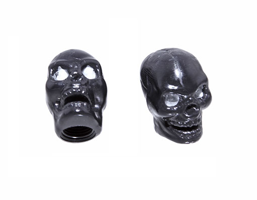 Skull Valve Bicycle Caps Black.