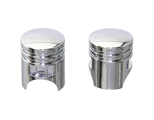 Piston Valve Bicycle Caps Chrome.