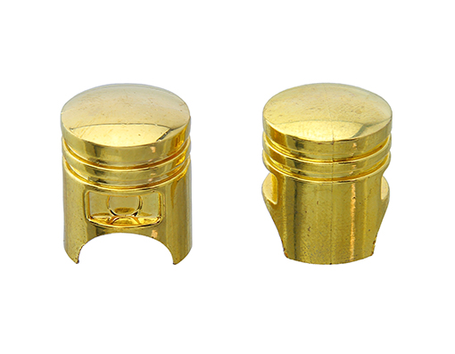 Piston Valve Bicycle Caps Gold.