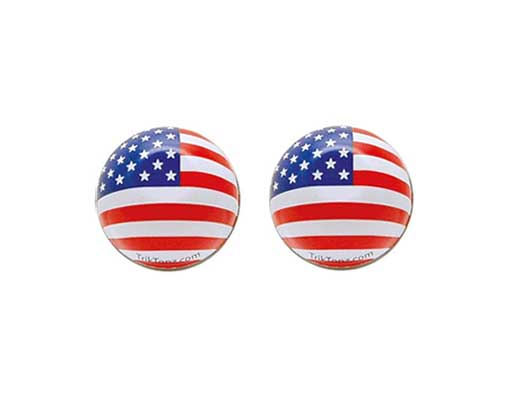 Us Flag Valve Bicycle Caps.