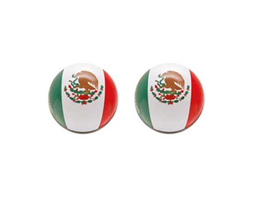 Mexico Flag Valve Bicycle Caps.