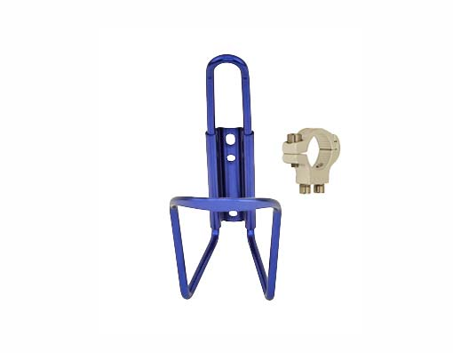 Alloy Handlebar Mount Bottle Cage blue.