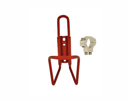 Alloy Handlebar Mount Bottle Cage red.