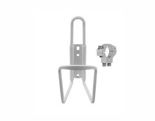 Alloy Handlebar Mount Water Cage White