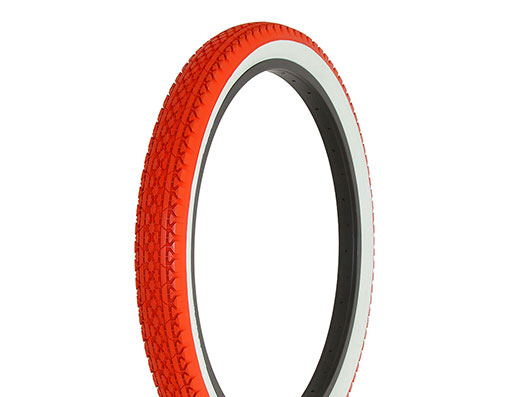 original TIRE DURO 18 X 2.125 RED//RED SIDE WALL HF-143G 256982 New