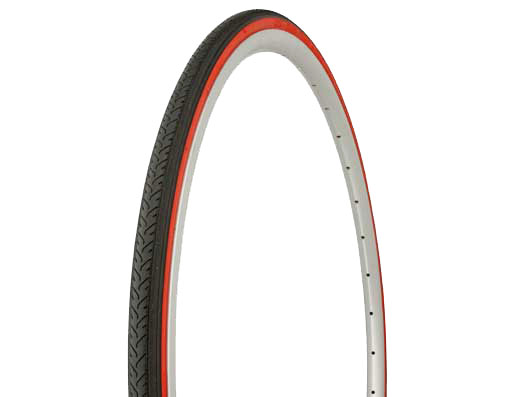 Tire Duro 700 x 25c Black/Red Side Wall.